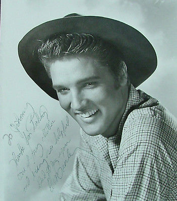 Signed Elvis photo from Love Me Tender