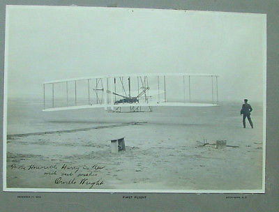Kitty Hawk photo signed by Orville Wright