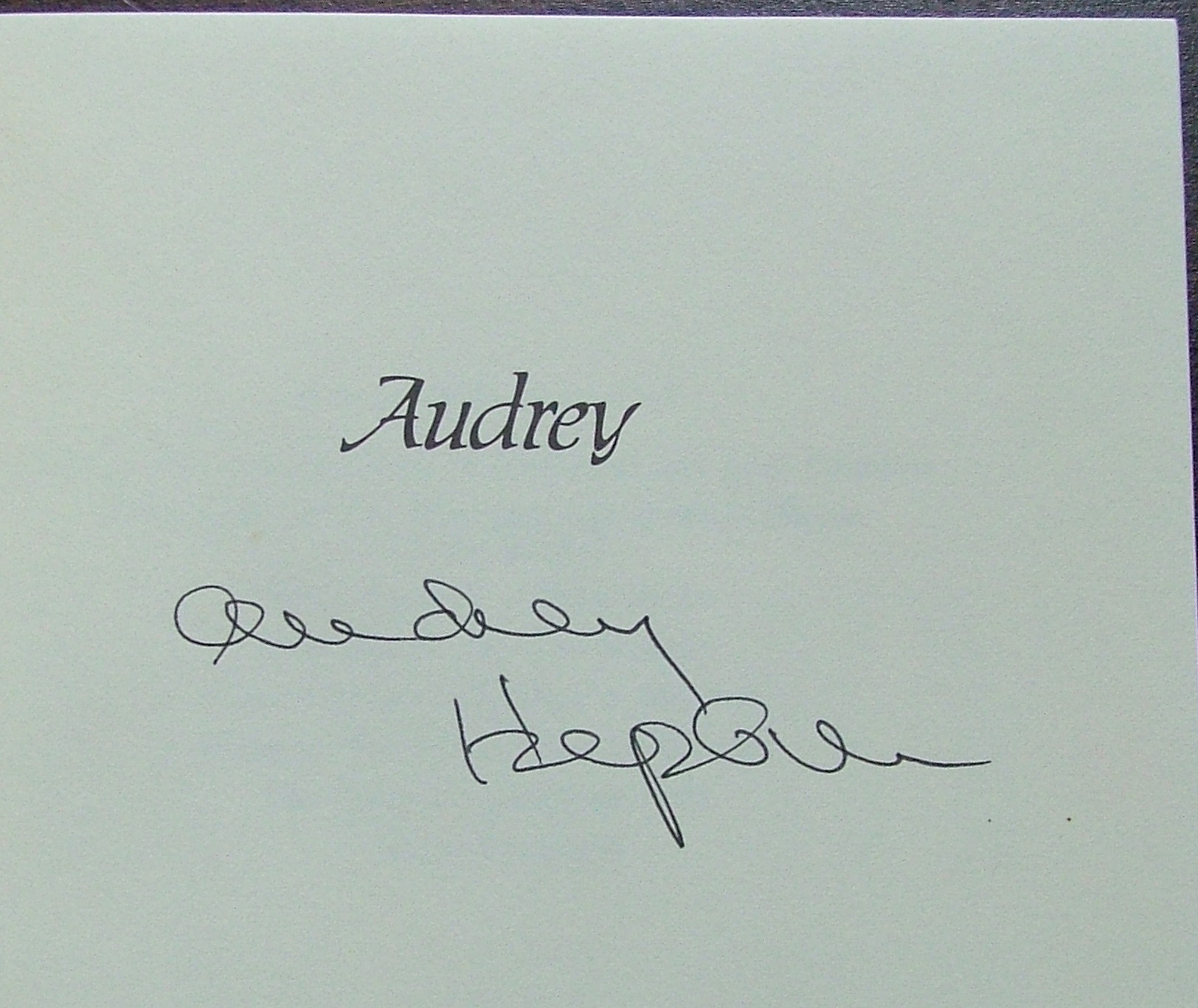 audrey the life of audrey hepburn signed by audrey on the half title