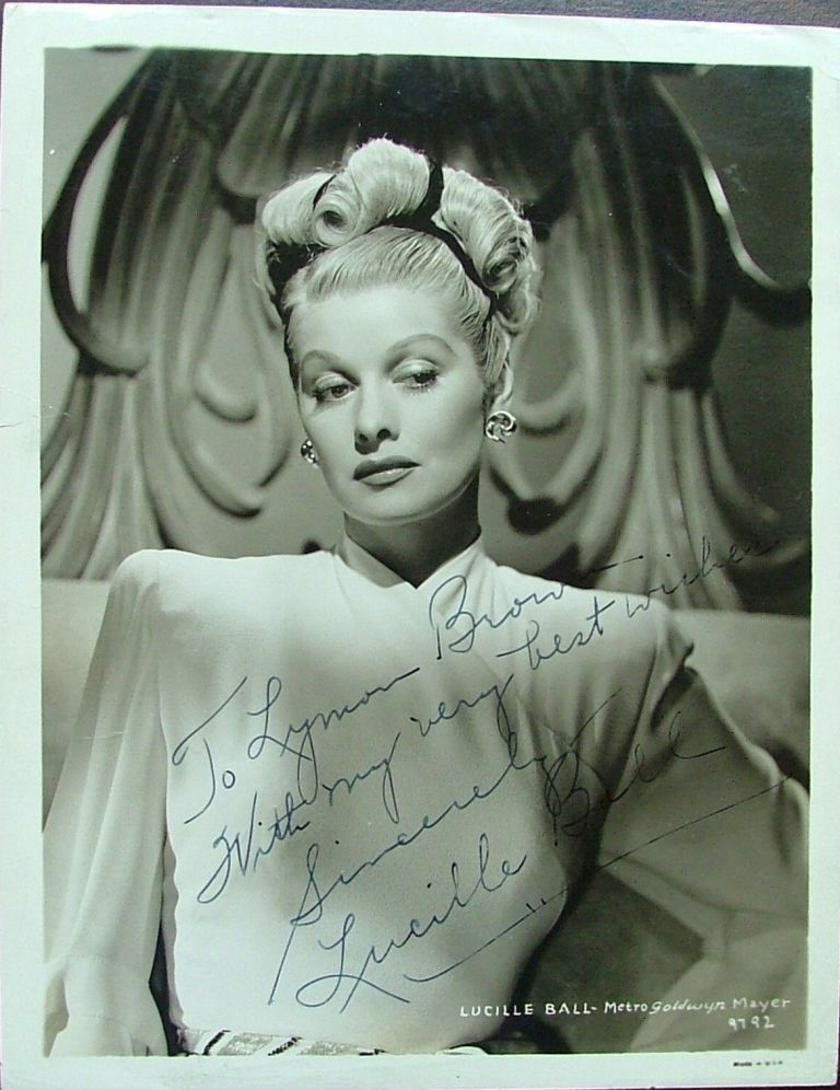 Lucille Ball Inscribed & Signed 8x10 Silver Gelatin Glossy Photo Lucy