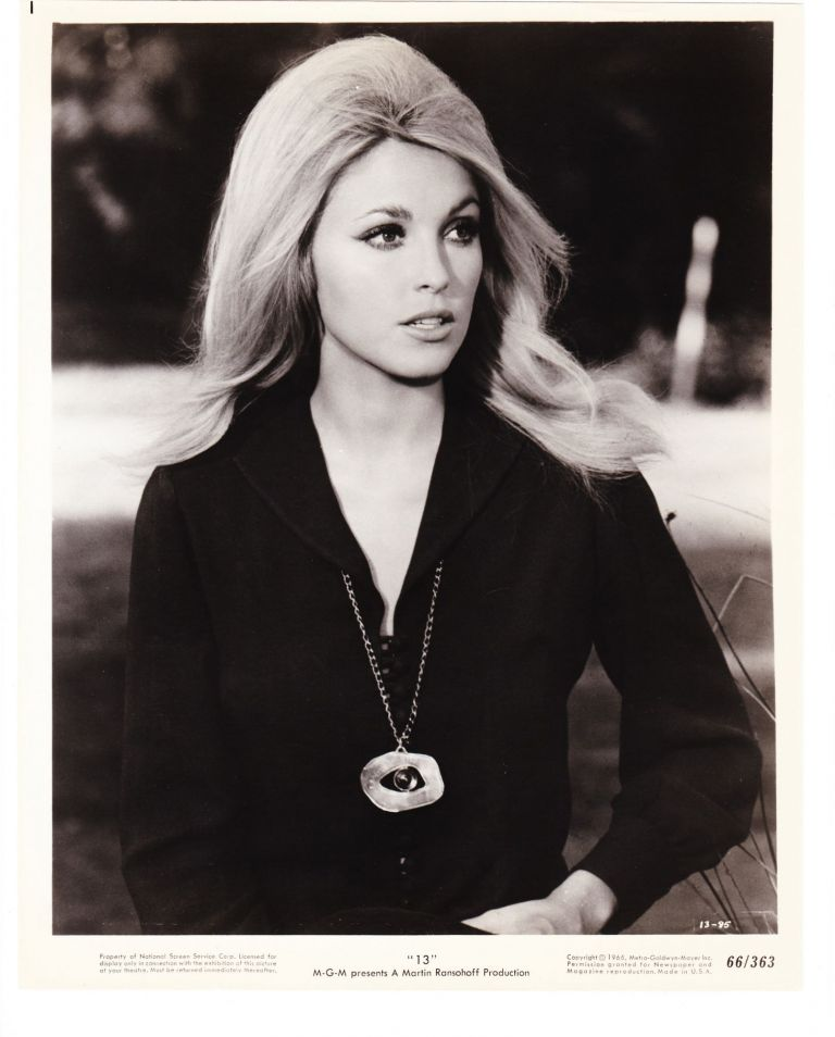 "Sharon Tate, 8 x 10 gelatin silver publicity photo for ""13"" a Martin Ransohoff Production."