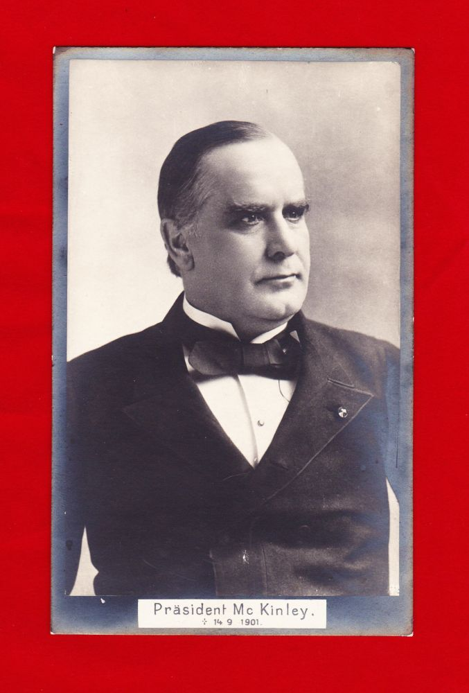 Photo portrait postcard of President McKinley dated 14-9-1901, the day of his death