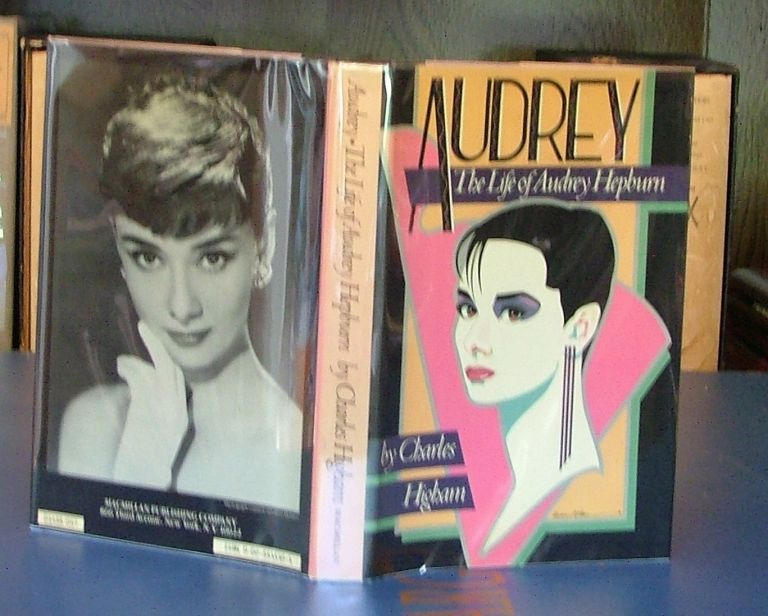 AUDREY The Life of Audrey Hepburn signed by Audrey on the half title page. Charles Higham.