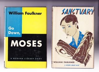 4 titles: Absalom, Absalom; Sanctuary; Go Down Moses; Selected Short Stories