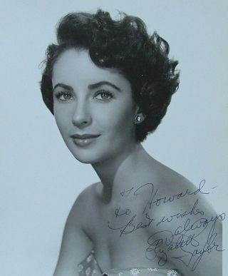 Elizabeth Taylor, signed 8 x 10 photo