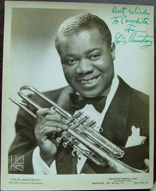 Louis Armstrong, silver gelatin 8 x 10 photo, unframed