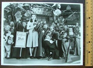 "Judy Garland 8 x10 Photo Signed to a Munchkin ""Loads of Luck for 1939 Judy"""