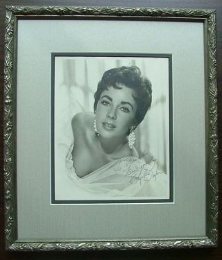 Elizabeth Taylor signed photo