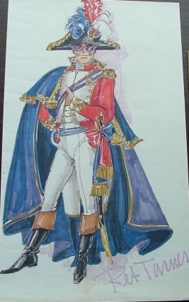 Elton John costume sketch by Ret Turner for a TV appearance. (ca. 1980s