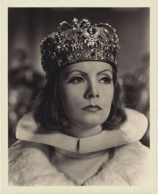 "Greta Garbo vintage original 8"" x 10"" sepia tone silver gelatin photo by Clarence Sinclair Bull"