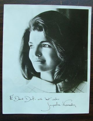 Signed 8 x 10 Jacqueline Kennedy Photo