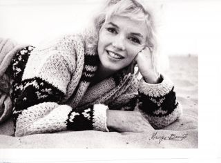 Marilyn Monroe black and white semi-glossy photo, limited edition 1962, photographed and signed by George Barris