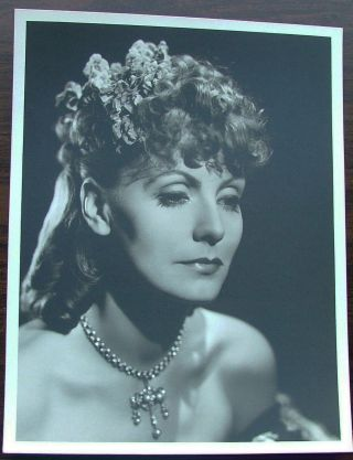 Greta Garbo vintage original 13 x 10 black and white silver gelatin photo by Clarence Sinclair Bull