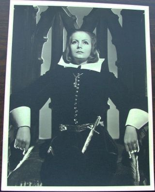 Greta Garbo as Queen Christina, vintage original 13 x 10 black and white silver gelatin photo by...