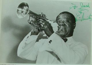 Louis Armstrong Signed 8x10 Glossy Photo Jazz 1959