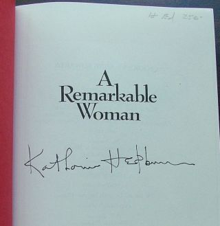 A Remarkable Woman A Biography of Katharine Hepburn Signed by Katharine Hepburn