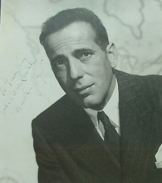 Humphrey Bogart - 11x14 double weight matte finish portrait photo, inscribed and signed,...