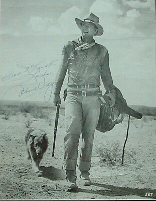 John Wayne - 8x10 matte photo inscribed and signed, framed